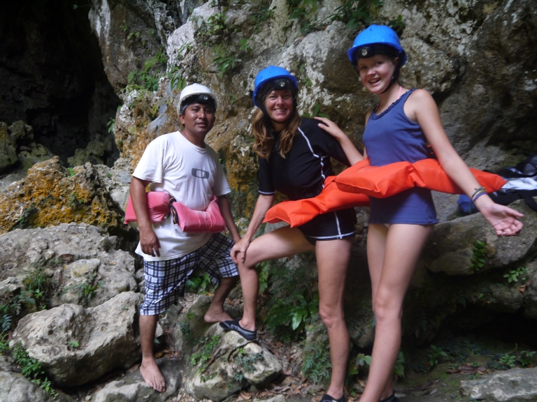 me, mum and guide going into the cave - #5