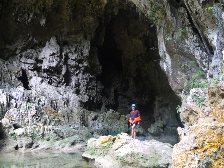Blue Creek cave- the ultimate traveller going in #