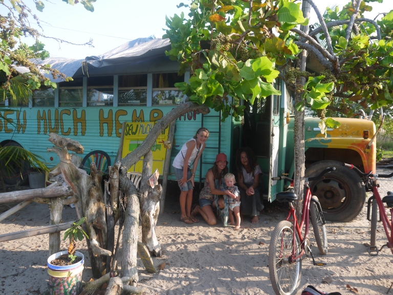 hippy bus with our bikes in front - Hopkins Travellingminstrel #