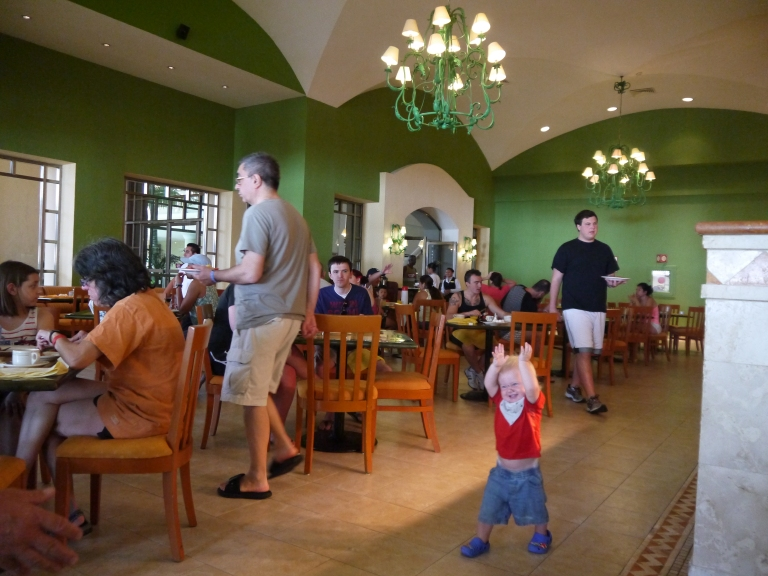 Jed in breakfast area-Travellingminstrel.wordpress.com #