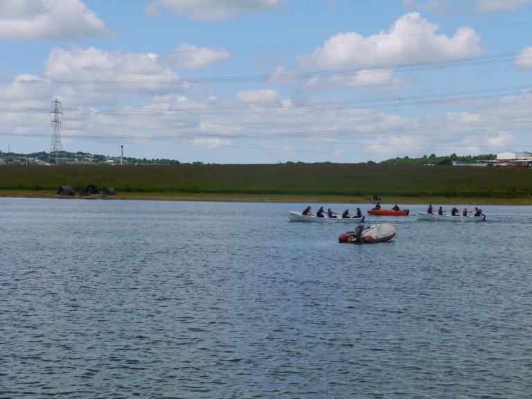 Our team racing on Rishton reservoir - Travellingminstre #l