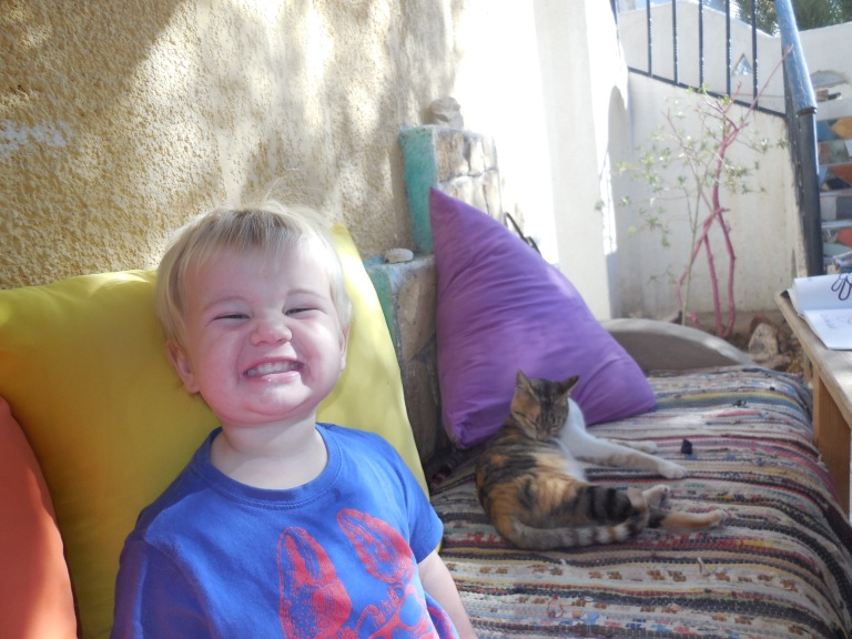 "Jed with ""Chippy"" the cat - Travellingminstrel #"
