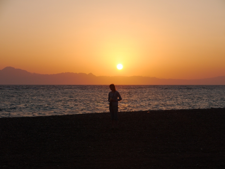 Me with the rising sun - Travellingminstrel #