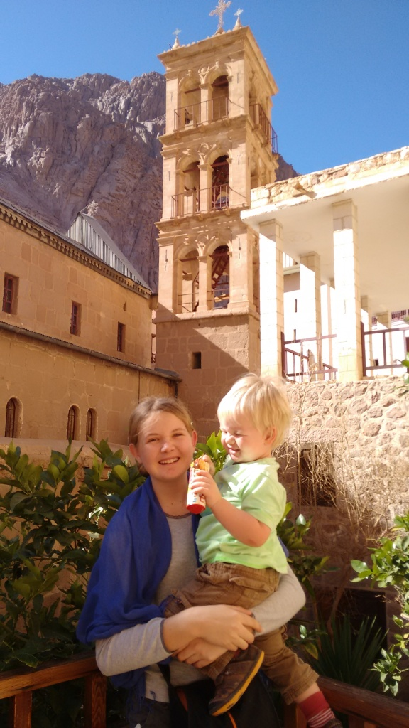 Me and Jed in the monastery - Travellingminstrel #