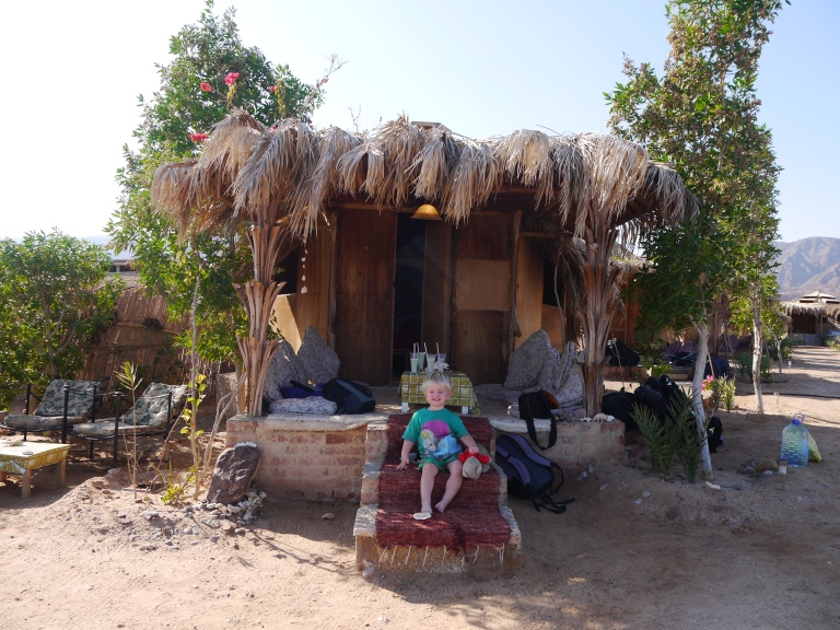 Jed with our hut- Travellingminstrel #1