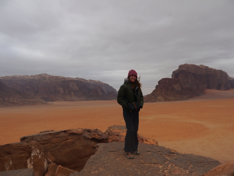 Mum in Wadi Rum - Travellingminstrel #