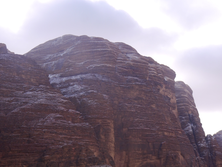 Wadi mountains in snow - Travellingminstrel #