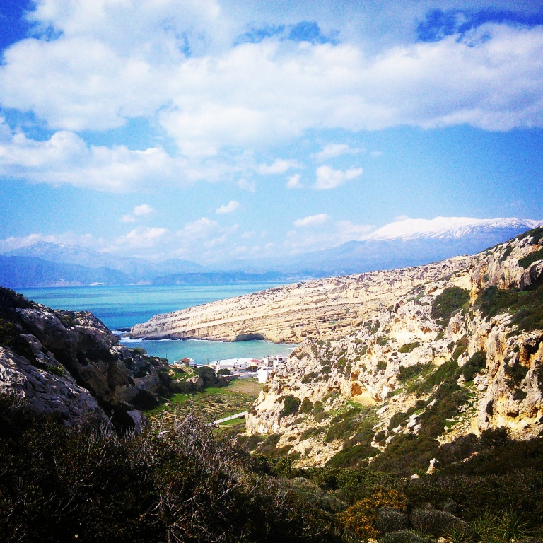 Looking back towards the Matala caves - Travellingminstrel #