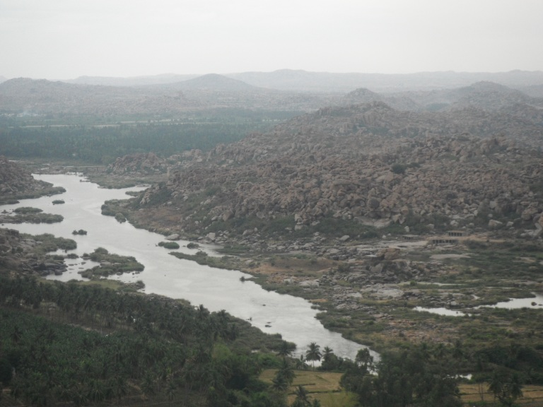 View from Monkey temple in Hampi - Travellingminstrel #