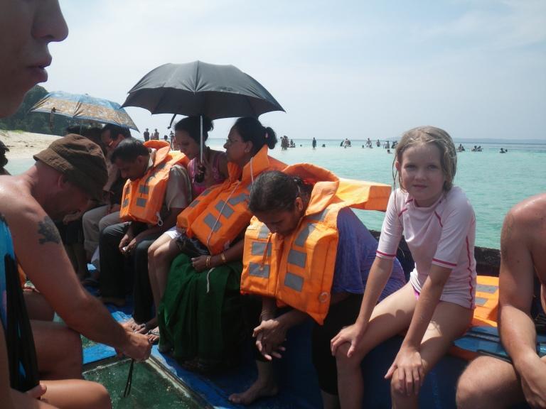 Glass bottom boat, none can swim - Travellingminstrel.com #
